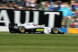 Charlie Kimball - Kimball driving for Victory Engineering in the Donington Park round of the 2007 Formula Renault 3.5 Series season.