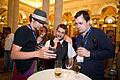 Chatting at Wikimania 2012 LOC Opening Reception 5.jpg