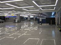 Check-in area at Terminal 2 in Belgrade Airport.jpg