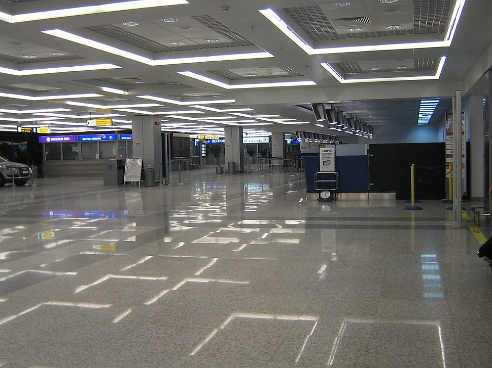 Check-in area at Terminal 2 in Belgrade Airport