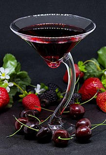 Cherry juice Cherry juice is from the juice of cherries, and is consumed as a beverage, health supplement and used as an added ingredient.