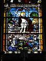 Chevrières (60), église Saint-Georges, verrière n° 0 - Crucifixion et Résurrection du Christ 2.JPG