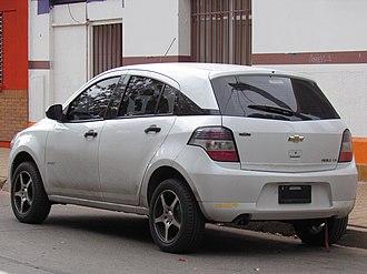 Chevrolet Agile - Rear view of a 2012 Chevrolet Agile 1.4 LS Spirit