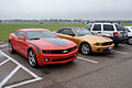 Chevrolet Camaro 2010 RS Ford Mustang 2010 RFronts NMUSAF 26Sep09 (14596951061).jpg