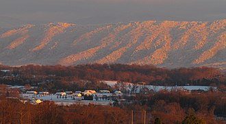 Blount County, Tennessee - Chilhowee Mountain in winter