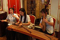 Chinese musicians at a restaurant in Shanghai