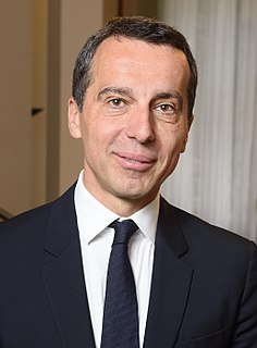 Christian Kern Austrian politician and businessman
