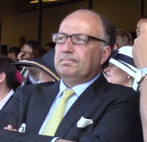 Christophe Clement - Christophe Clement in the stands watching Tonalist in the 2014 Belmont Stakes