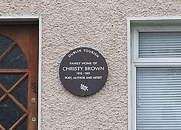Christy Brown (commemorative plaque).jpg