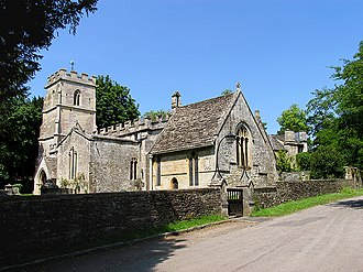 Ampney Crucis - Image: Church in Ampney Crucis geograph.org.uk 22372