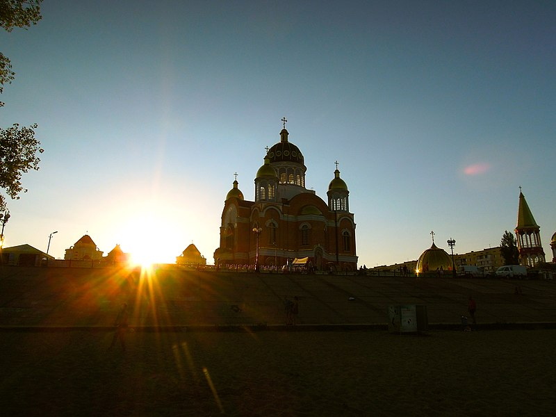 File:Church in the sunset - Kiev.JPG
