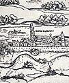 Church of Mary Magdalene in 1541 Budapest Erhard Schön.jpg