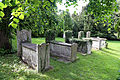 Church of Ss Mary & Lawrence - churchyard tombs at north.JPG