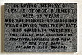 Church of St Mary Matching Essex England - Leslie George Burnett north aisle memorial.jpg