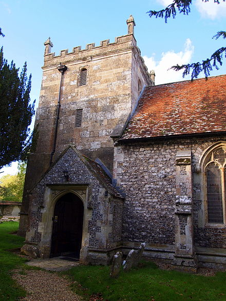 St Peter and St Paul's church Church thruxton.JPG