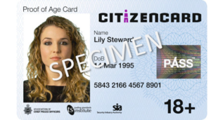 CitizenCard - Image: Citizen Card photo ID card for under 18+
