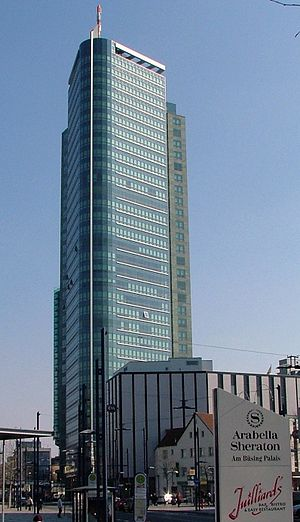 "Offenbach am Main - The 120-meter high ""City-Tower"" is mainly used as the German headquarters of Capgemini"