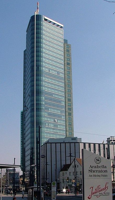 "The 120-meter high ""City-Tower"" is mainly used as the German headquarters of Capgemini"