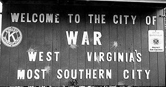War, West Virginia - City of War, West Virginia
