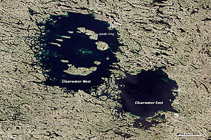 Clearwater Lakes - Clearwater Lakes, 2013 image by NASA Earth Observatory
