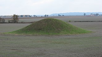 National Register of Historic Places listings in Jackson County, Illinois - Image: Cleiman Mound with village