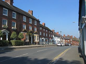 Cleobury Mortimer - The A4117 as it passes through the town.