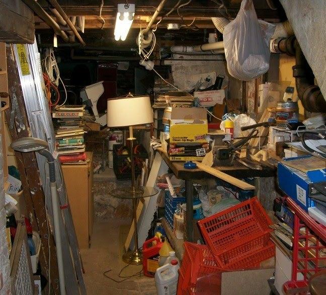 Clutter in basement