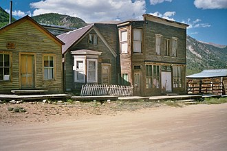 St. Elmo, Colorado - Buildings along Main Street