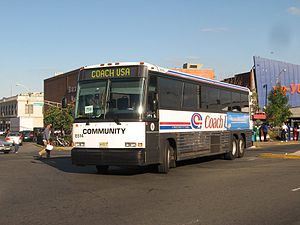 Passaic Bus Terminal - Image: Coach USA MCI