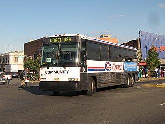 NJ Transit bus fleet - Image: Coach USA MCI