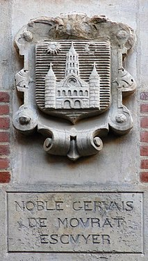 Coat of arms in Cour Henri IV Gervais de Mourat.JPG