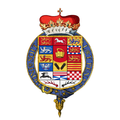 Coat of arms of George Louis, Elector of Hanover, KG (later George I, King of England).png