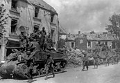 American forces in Coutances, France, during Operation Cobra