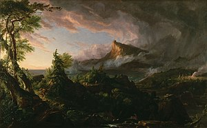 Young America movement - The Course of Empire: The Savage State by Thomas Cole (1836)