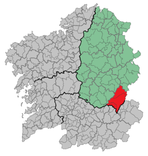Folgoso do Courel - Location of Folgoso do Courel in Spain