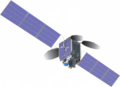 Communications satellite with TEMPO spacecraft model.png