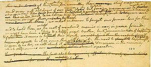 Physical history of the United States Declaration of Independence - The Composition Draft