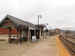 Connellsville station - The Connellsville station in March 2016.