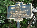 Constable Hall Historical Marker Jun 11.jpg