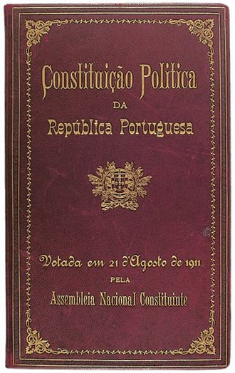 Constitution of Portugal (1911) - Cover of the Constitution of Portugal of 1911
