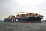 Container ship MSC Gaia on the river Elbe.png