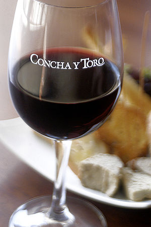 concha y toro wine glass