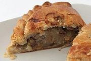 Cornish pasty - cut