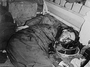 Corpse of Ngô Đình Diệm in the 1963 coup.jpg