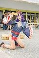 Cosplayer of jiangshi Shuten Douji kneeling at PF32 20200705b.jpg
