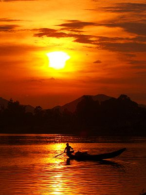 Perfume River - a scenic landscape of Hương river in Huế.