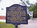 County Line baptist Church Historic Marker.jpg