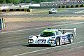 Courage C32LM - Alain Ferte, Henri Pesacrolo & Franck Lagorce heads onto the pit straight at the 1994 Le Mans (31970306365).jpg