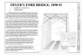 Cover Sheet - Fryer's Ford Bridge, Spanning East Fork of Point Remove Creek at Fryer Bridge Road (CR 67), Solgohachia, Conway County, AR HAER AR-64 (sheet 1 of 8).png