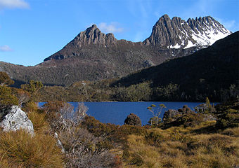 Cradle Mountain in Tasmania's UNESCO World Heritage Wilderness Area CradleMountain.jpg